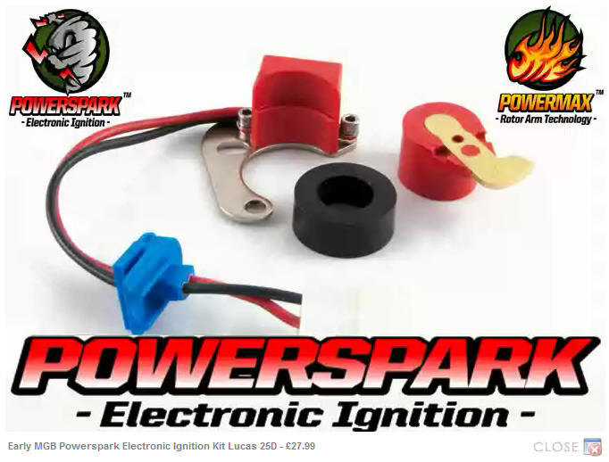 Twin Cylinder Motorcycle Electronic Ignition System NEGATIVE earth UK made